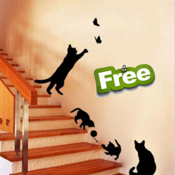 Cute Cat Removable Vinyl Wall Stickers