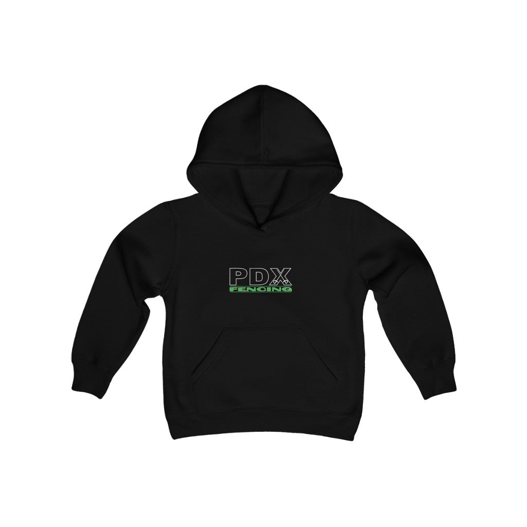PDX Fencing Kids Hoodie in Black