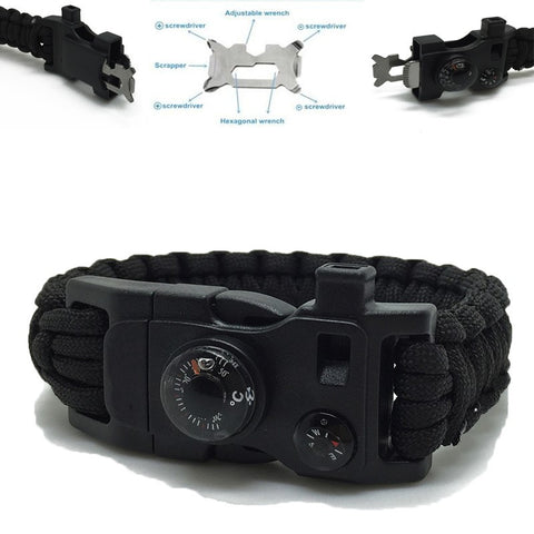 14 in 1 Survival Paracord Bracelet - Free + Shipping