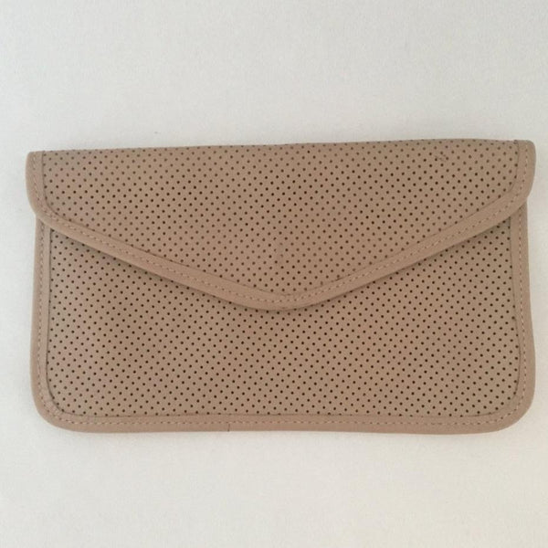 Vintage Beige leather Clutch