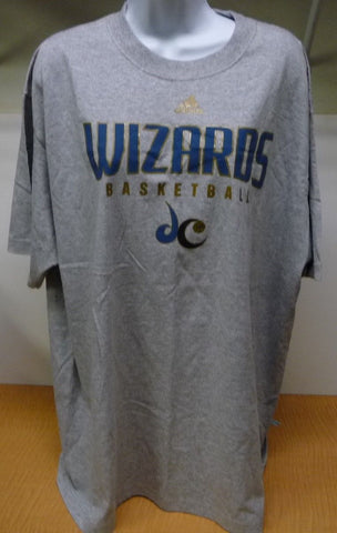 Adidas Grey Wizards Basketball T-shirt With Gold And Blue Accents Mens XL - Manassas Consignment