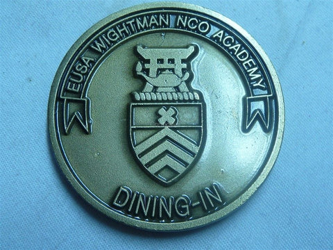 Army EUSA Wightman NCO Academy Dining In Challenge Coin - Manassas Consignment