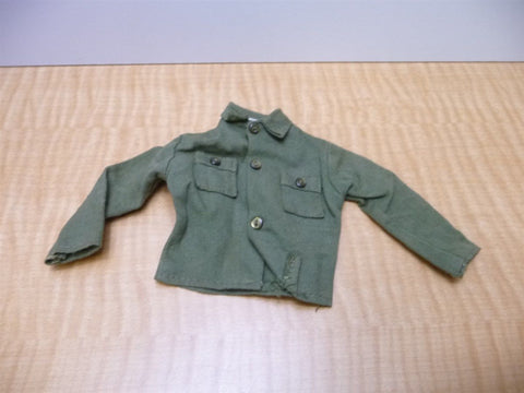 1960s G.I.Joe Hasbro Hong Kong Army Shirt Button up Vintage Green GI Joe Clothes - Manassas Consignment