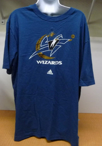 Adidas Blue Wizards Basketball T-shirt With White,Grey And Black Accents Mens XL - Manassas Consignment