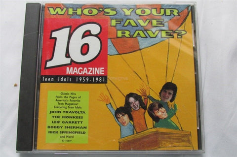 16 Magazine Who's Your Fave Rave? CD - Manassas Consignment