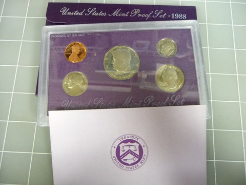 1988-S United States US Mint Proof Set w/ COA - Manassas Consignment