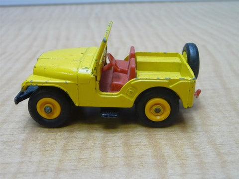 Matchbox Lesney No. 72 Yellow Jeep
