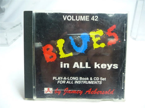 """Blues"" In All Keys Play-A-Long CD ONLY Volume 42 - Manassas Consignment"