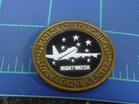 Strategic Command National Airborne Operations Center NightWatch Challenge Coin