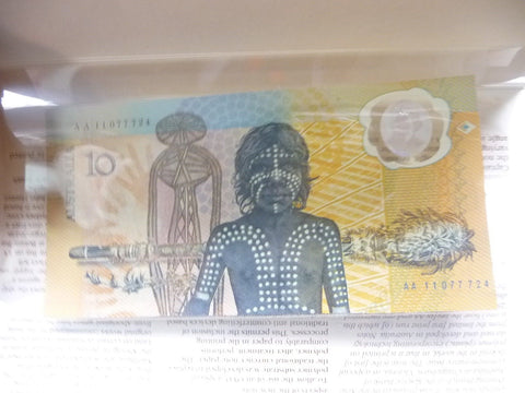 (Sydney) Australian Aboriginal 1988 $10 Commemorative Note First Polymer - Manassas Consignment