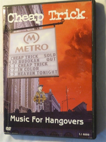 Cheap Trick Music for Hangovers DVD - Manassas Consignment