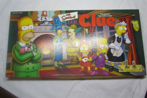 The Simpson Clue board game - Manassas Consignment