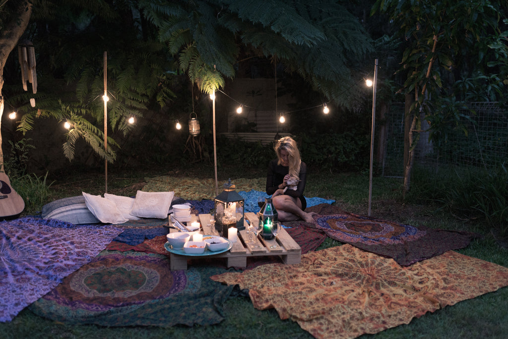 BOHEMIAN BACKYARD FIRST DATE