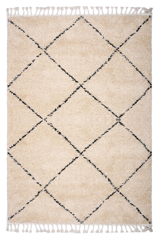 Moroccan Tribal Berber Beni Ourain Inspired Rug | Fez