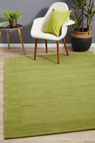 Almeria Wool  Pistachio Coloured Rug