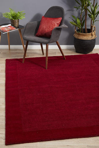 Almeria Wool  Red Coloured Rug