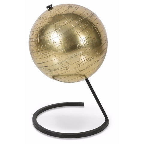 Aluminium Globe on Stand - Lost Design Society