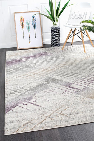 Riverbed Jagged Aubergine Rug