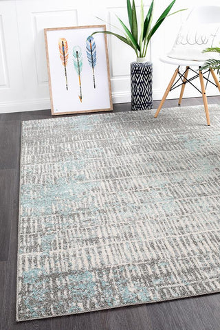 Riverbed Sticks Blue Rug