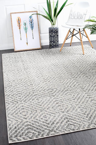 Riverbed Ripple Grey Rug