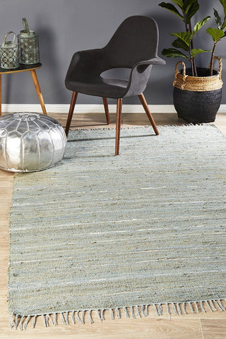 Saville Hemp Rug Blue