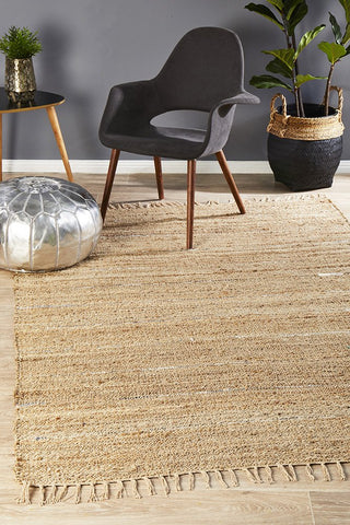 Saville Hemp Rug Natural