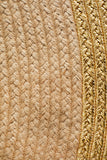 Milano Metallic Gold and Natural Jute Rug