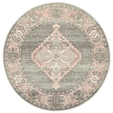 Boulevard Court Grey Round Transitional Rug