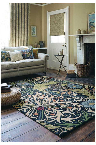 Morris & Co Seaweed Ink Rug