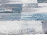 Belle Luxury Geometric Blue Rug II