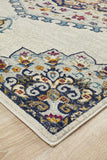 Tigris Zubayr White Bohemian Transitional Rug