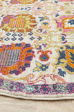 Tigris Multi Round Bohemian Transitional Rug