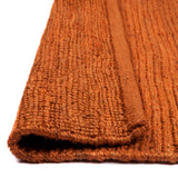 Burmese Hemp Jute Rug | Orange
