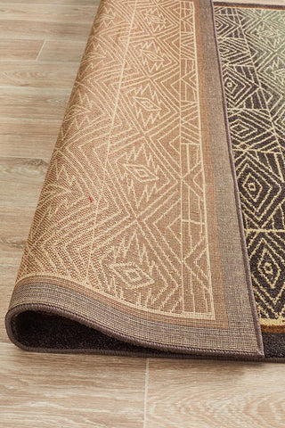 Anjar Tribal Design Brown Rug