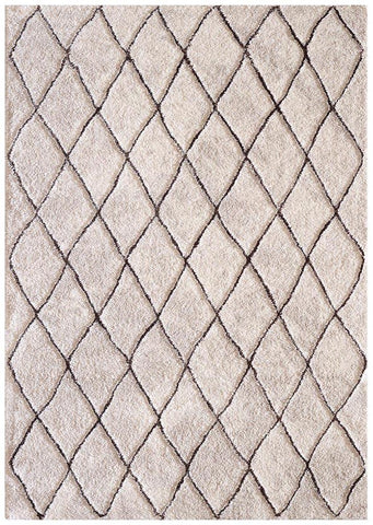 Naples Diamand Rug Natural Brown