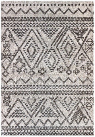 Naples Tribal Natural and Grey Rug