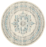 Legion Ghost White Round Transitional Rug