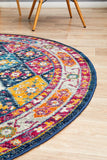 Legion Navy Round Transitional Rug