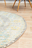 Legion Millennium Grey Round Transitional Rug