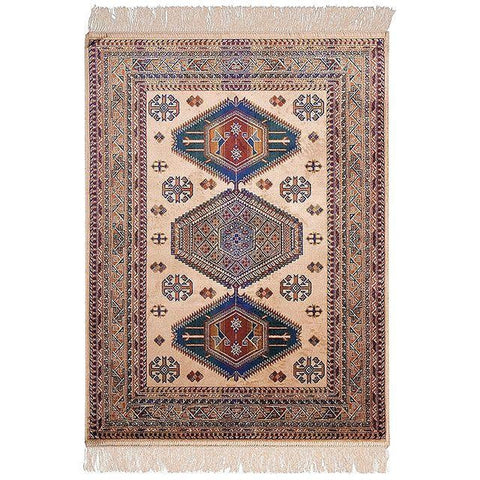 CHIRAZ SILK RUG | 100x137cm | Cream - Lost Design Society