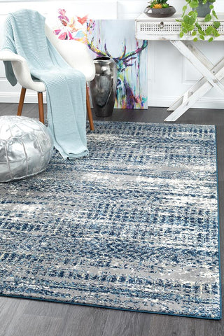 Kensington Modern Rug Blue Grey