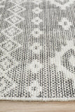 Chateau Bella Tribal Woven Charcoal Rug