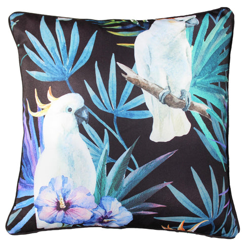 BLACK COCKATOO BIRD CUSHION - Lost Design Society