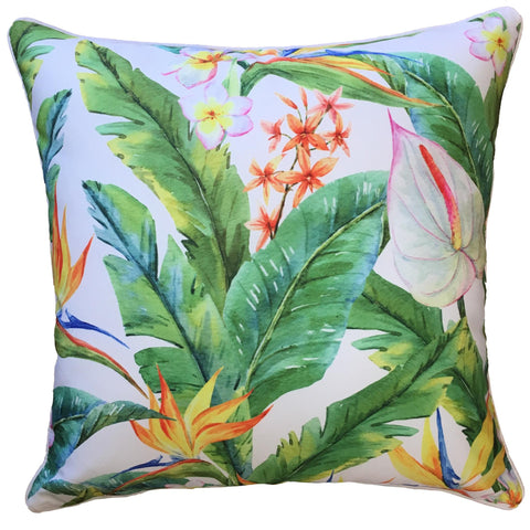 ISLAND STYLE WHITE CUSHION - Lost Design Society