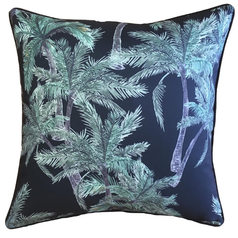 VINTAGE PALM BLACK CUSHION - Lost Design Society