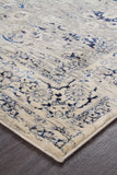 Isfahan Transitional Modern Abrash Rug Navy White Grey