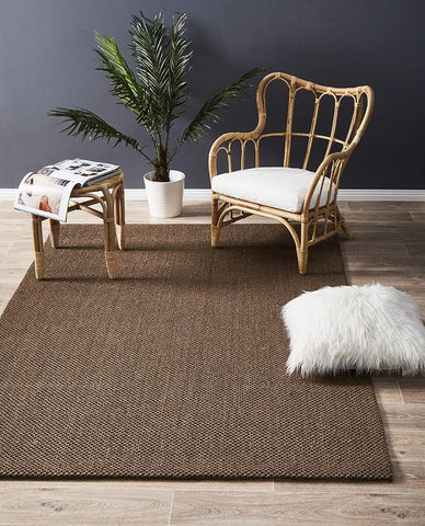 Natural Sisal Rug Lion Eye Brown