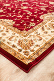 Stunning Formal Classic Design Rug Red