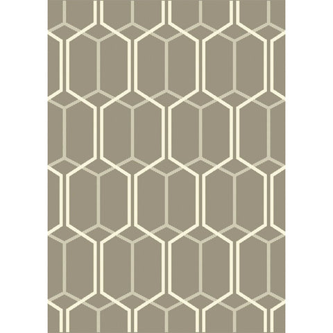 Esprit Indoor Outdoor Rug | Grey Geometric | 160x230cm - Lost Design Society