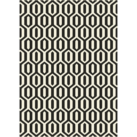 Esprit Indoor Outdoor Rug | Black Geometric | 160x230cm - Lost Design Society